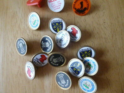 GOLF BALL MARKERS  x 17 VARIOUS