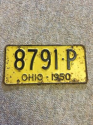 1950 Ohio License Plate #8791-P with free shipping!