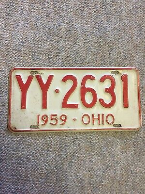1959 Ohio License Plate #YY-2631 with free shipping!