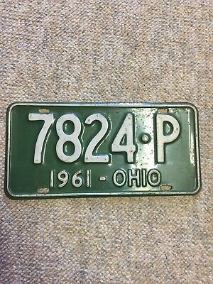 1961 Ohio License Plate #7824-P with free shipping!