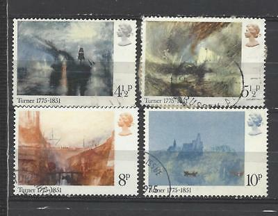 British stamps collection 1975 JMW Turner paintings SG971-SG974 full set GB