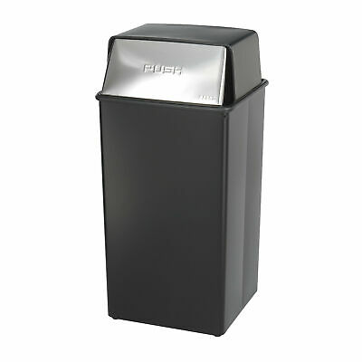 Safco Products Company Reflections 36 Gallon Swing-Top Steel Trash Can