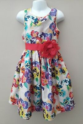 TED BAKER, Girls Summer Floral Print Dress, Age 8 Years