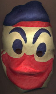 1930s/40s  Oversize Gauze Donald Duck Display Halloween Mask