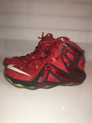 36bfe7422e69a Nike Lebron XII 12 Elite Team University Red Mens Size 9.5 Basketball  724559-618
