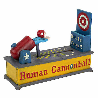 Design Toscano Human Cannonball Die-Cast Iron Mechanical Coin Bank