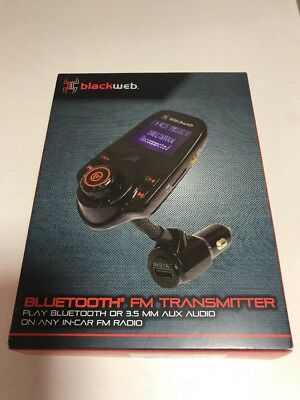 Blackweb FM Transmitter with Bluetooth Wireless Technology new in box