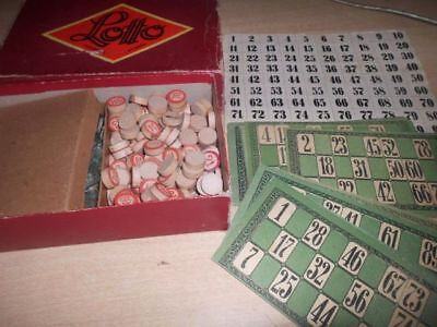 sehr altes Spiel Lotto - Tombola - Loteria