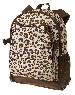 eab56cc8a054 NWT Gymboree Brown Cat Kitty Leopard Print Backpack Girls