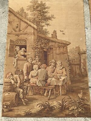 19th Century ANTIQUE FRENCH VICTORIAN Tapestry Flemish Variety