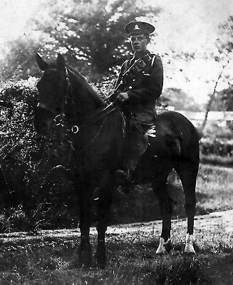 WW1 WWI BEF British Army soldier - artillery on horseback