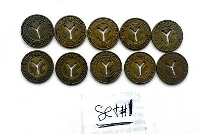 Nyc Subway 10 Cut Y  Small Tokens  16 Mm
