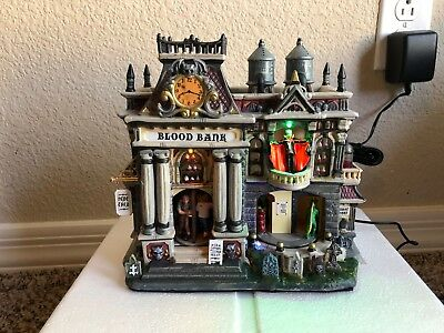 Lemax Spooky Town Halloween The Blood Bank Dracula Animated Musical Lighted