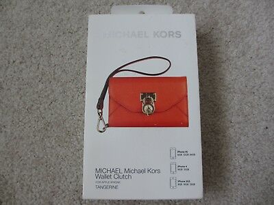 c5b8627c098c $80 NEW MICHAEL KORS MK Tangerine Wallet Clutch Wristlet for iPhone 3GS 4 4S