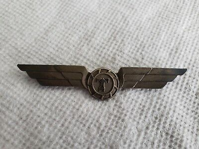 """Sterling Flying Tigers Airlines Circle """"T"""" Pilots Wings Excellent Cond, Bar Back"""
