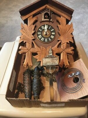 W German  CUCKOO CLOCK FOR REPAIR OR PARTS   SEE PHOTOS