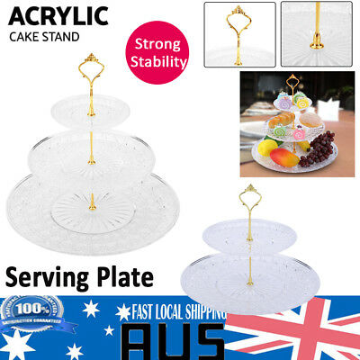2/3 Tier Fruit Cupcake Cake Stand Display Wedding Birthday Party Afternoon Tea
