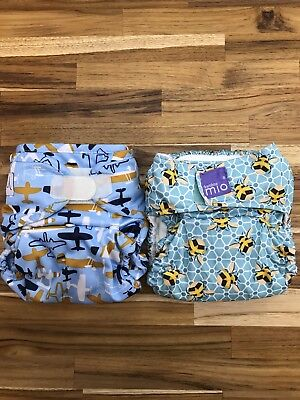Lot Of 2 Cloth Diapers Bambino Mio And Wink
