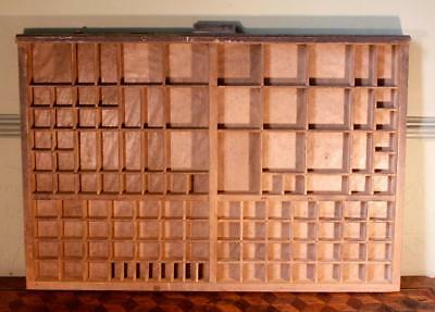 Vintage Art Deco Radiguer French Wooden Printers Tray Letterpress Type Display D