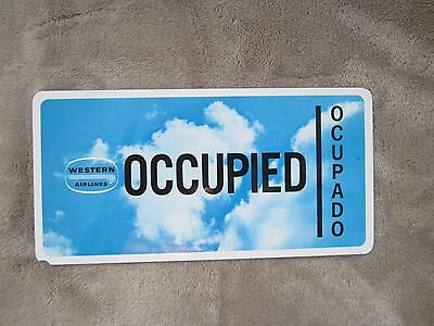 Western Airlines Seat Occupied Occupado  Card Clouds