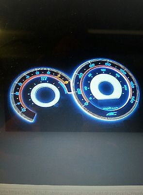 2002-2003 honda civic si only ac autotechinic indiglo gauges reverse s7