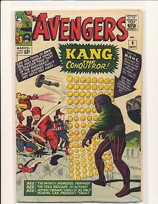 Avengers # 8 - 1st Kang the Conqueror VG Cond.