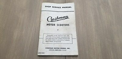 Cushman Motor Scooters Shop and Service Manual  CUSH-5000