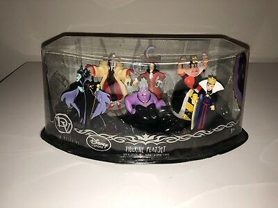 NIB Disney Villains Deluxe  6-piece Figurine Play Set - Cake Toppers, Maleficent