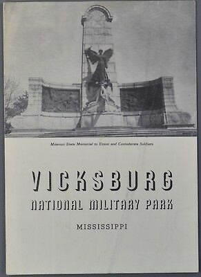 1941 VICKSBURG NATIONAL MILITARY MARK Mississippi MS Map and Brochure