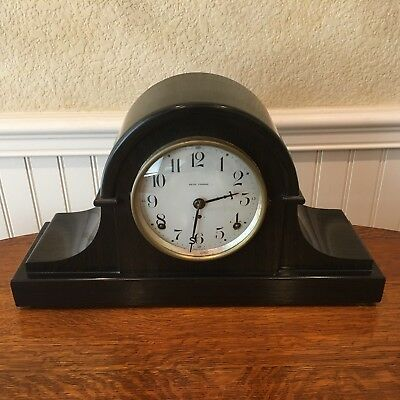 Antique BIM BAM Seth Thomas Adamantine Shelf Clock Beautiful Case Runs Perfectly