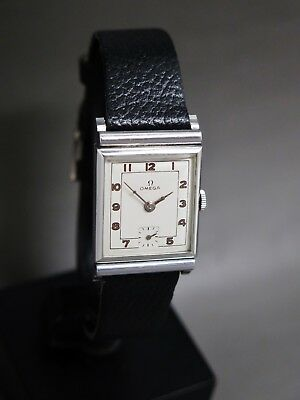 Rarest Omega vintage art deco watch from 1939, cal. R17.8, hand winding