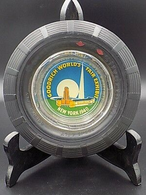 Vintage 1940 New York World's Fair Goodrich Exhibit Rubber Tire Ashtray