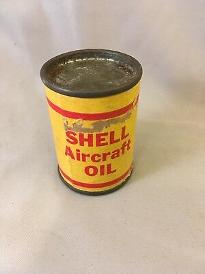 Antique Vintage Shell Oil Aircraft  Miniature Salesmans Sample Toy Can