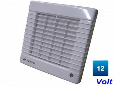 Bathroom Vent 150 Ma12, 263 M³/H , 150 mm with Blinds 12 V Pipe Fan