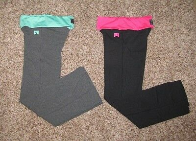 Nike Girl's Athletic Pants Yoga Style Black/Pink or Gray/Green S M L XL