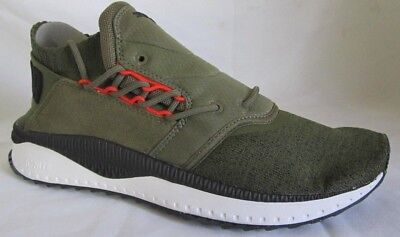 Puma Tsugi Shinsei Nocturnal Olive Green Men Walking Shoes 10.5