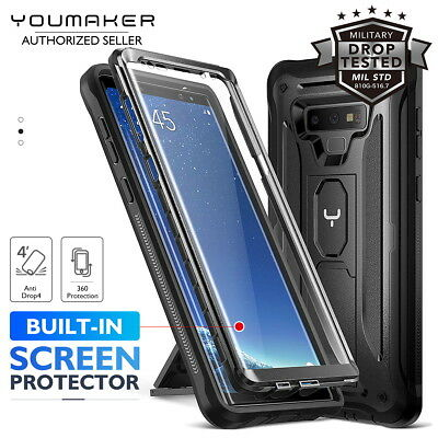 YOUMAKER® Samsung Galaxy Note 9 HEAVY DUTY Shockproof KickStand Case Cover