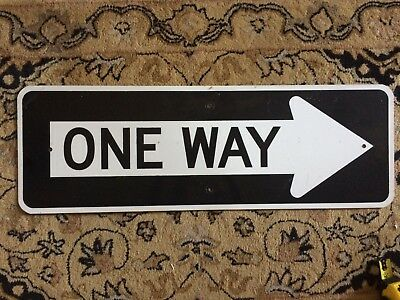 ONE WAY SIGN real aluminum street road  traffic