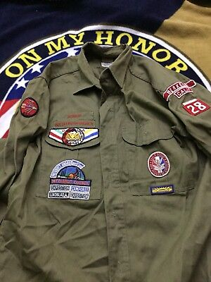 Vintage Boy Scouts Of America Uniform Denim Heavy Mount Diablo Council 023. 468