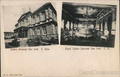 Costa Rica San Jose National Theatre and View of Foyer Postcard H. N. Rudd