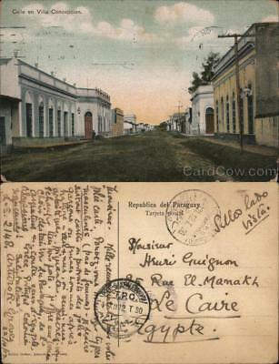 Paraguay 1912 Concepcion Boulevard in Paraguay with colonial architecture Gruter