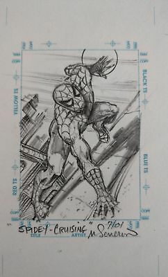 1998 Marvel The Silver Age Spiderman Sketchagraph Sketch By Marie Severin