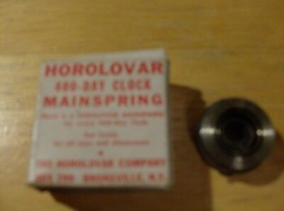One Horolovar 400 Day Clock  Main Spring For Clocks (New in Box)  Parts
