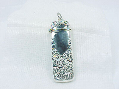 Lovely Estate Wide Sterling Silver Sewing Needle Case For Chatelaine 12.5Gr Nr