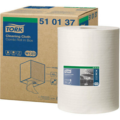 Tork 510137 Cleaning Cloth - Combi Roll In Box - W1/2/3 System - 1 Roll Of 400