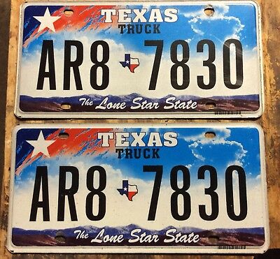 Texas Truck license plates