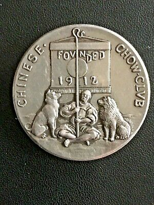 China Chinese Chow Club Founded 1912 Silver Competition Medal