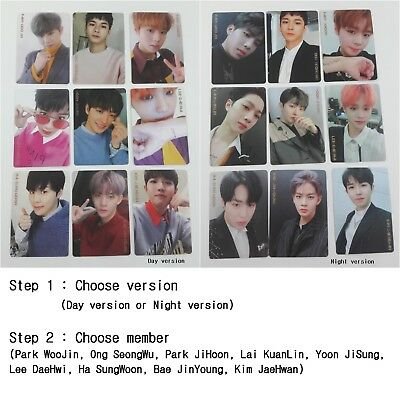 WANNA ONE 2nd Mini 0+1=1 I Promise You selected photocard 1p KPOP Night Day ver.