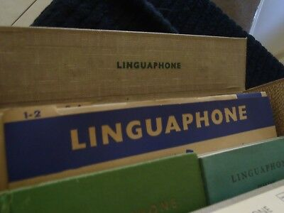 VINTAGE LINGUPHONE CONSERVATIONAL COURSE on 78  RECORDS. ITALIAN .