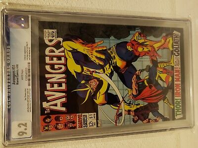 Avengers 51 Cgc 9.2 White Pgs. Collector Appearance